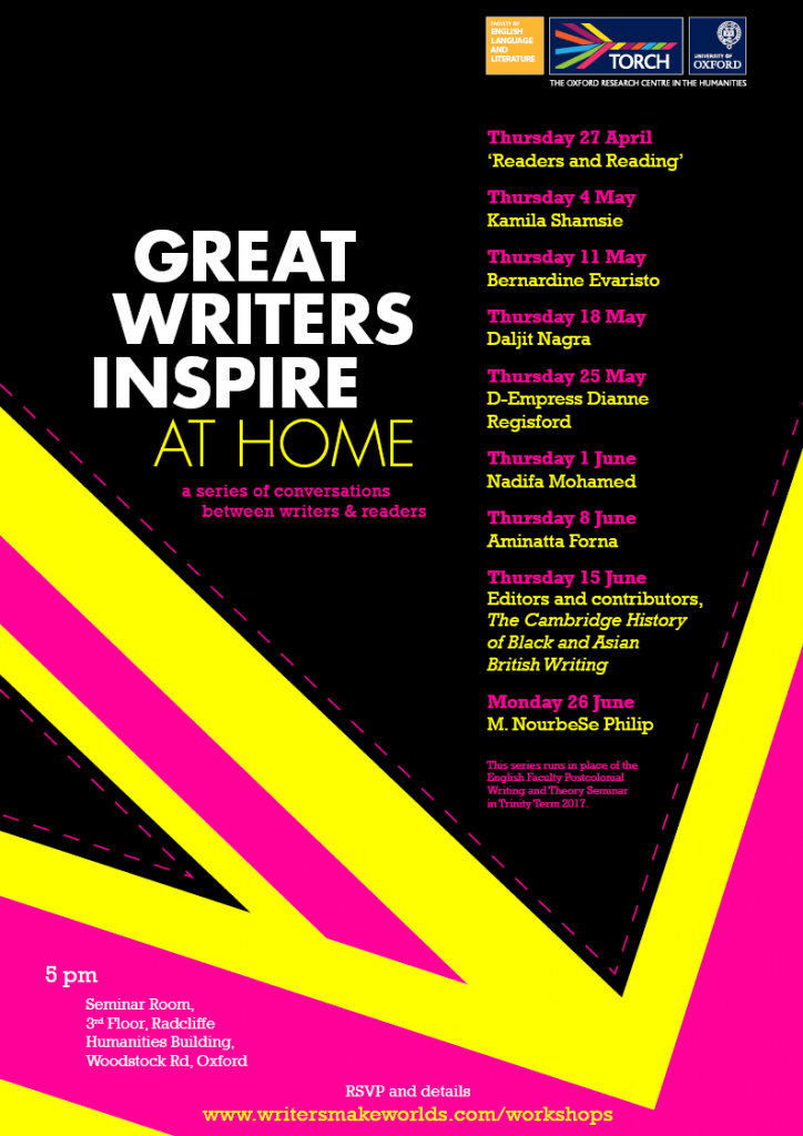 Great Writers Inspire at Home workshops