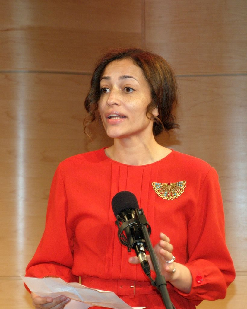 Zadie Smith announcing the five 2010 National Book Critics Circle finalists in fiction, 2011, David Shankbone (CC BY 3.0) via Wikimedia Commons