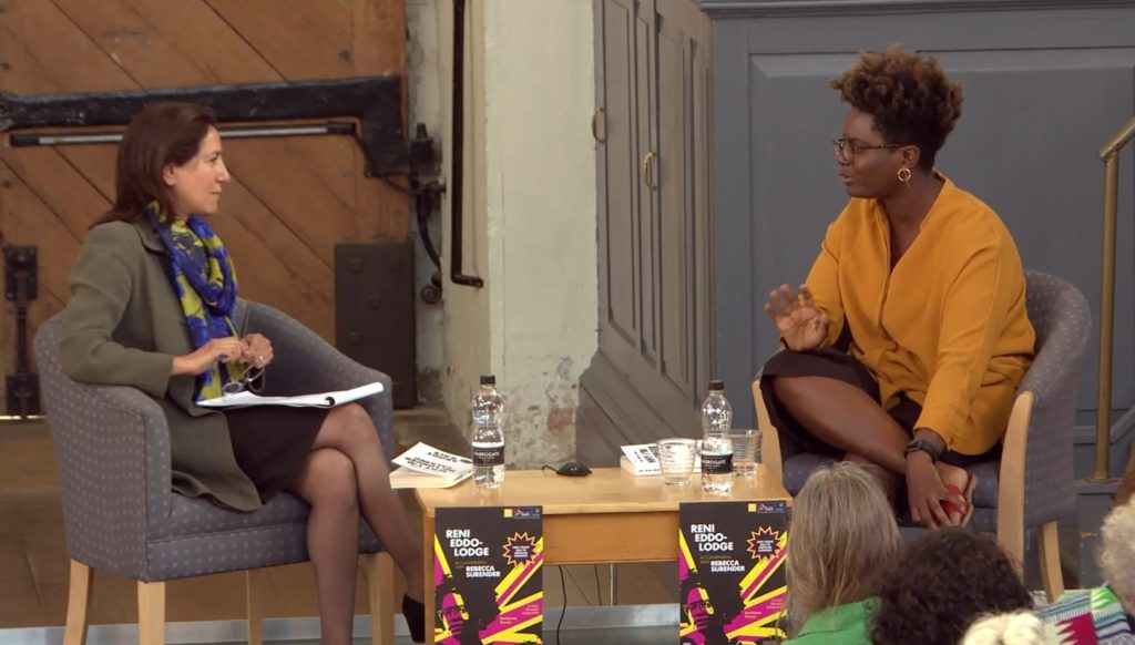Rebecca Surender and Reni Eddo-Lodge in conversation in Oxford, 14 June 2018