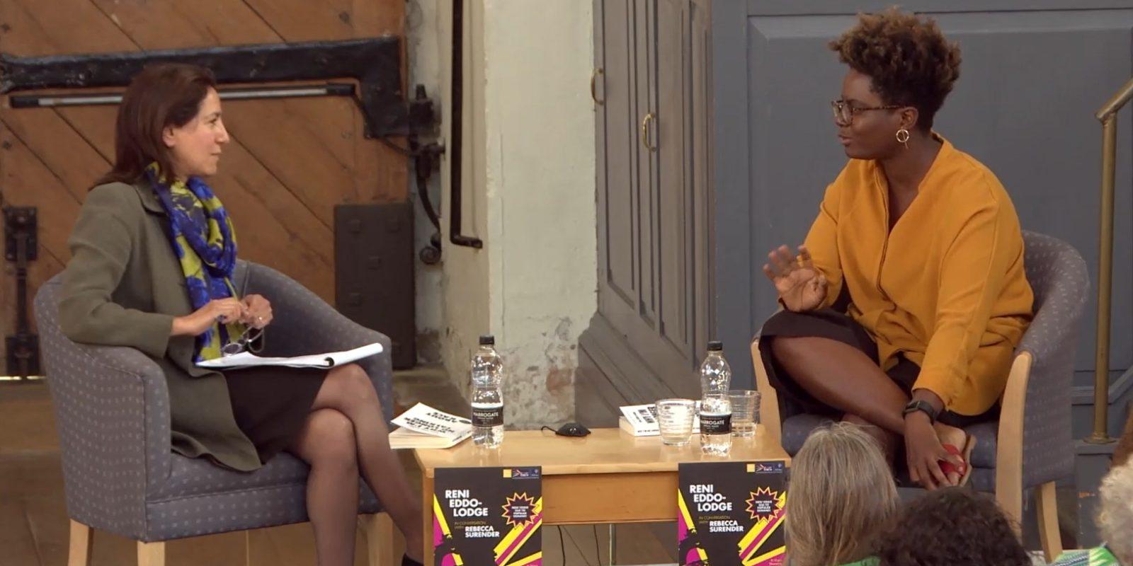 Rebecca Surender and Reni Eddo-Lodge in conversation in Oxford, 14 June 2018