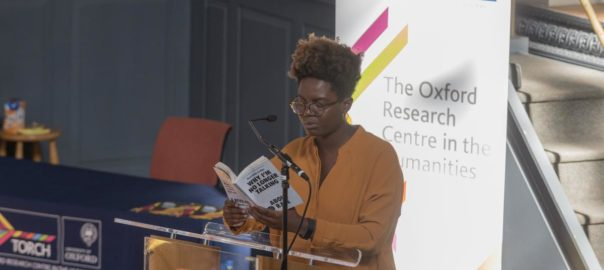 Reni Eddo-Lodge reading in Oxford, 14 June 2018 (photo: Stuart Bebb)