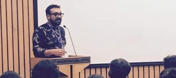 Filmmaker Anurag Kashyap, Literary Activism Symposium 2020 (Photo: Amit Chaudhuri)