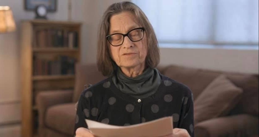 Lydia Davis reading a new, unpublished story in a video made specifically for the symposium, Literary Activism Symposium 2020 (Photo: Amit Chaudhuri)