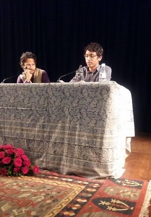Nikil Saval, founding editor of n1, with Chandrahas Choudhury, Literary Activism Symposium 2016 (photo: Amit Chaudhuri)
